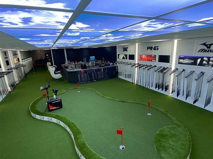 Scottsdale Golf indoor practice putting green.