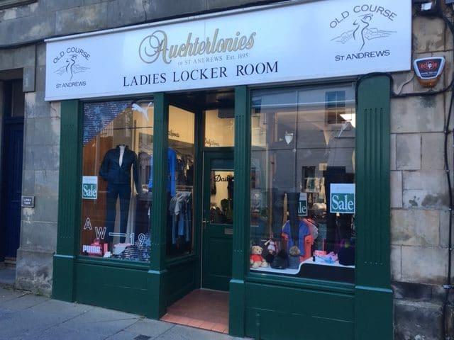 Auchterlonies of St Andrews, established 1895: Ladies locker room , golf shop.