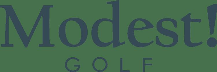 Modest! Golf logo.